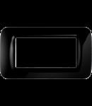 Placa ornament Toner Negru 4 module Gewiss System