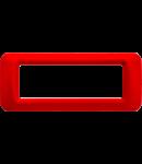 Placa ornament Rosu 6 module  Gewiss System