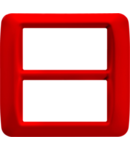 Placa ornament Rosu 8 (4+4) module  Gewiss System