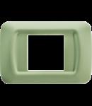 Placa ornament Verde Venetian 2 module  Gewiss System