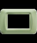 Placa ornament Verde Venetian 3 module  Gewiss System