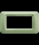 Placa ornament Verde Venetian 4 module  Gewiss System