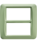Placa ornament Verde Venetian 8 (4+4) module  Gewiss System