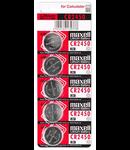 BATERIE CR2450 BLISTER 5 BUC MAXELL