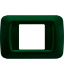 Placa ornament Verde Racing 2 module Gewiss System