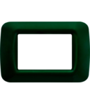 Placa ornament Verde Racing 3 module Gewiss System