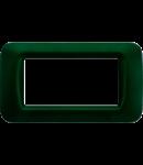 Placa ornament Verde Racing 4 module Gewiss System