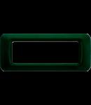 Placa ornament Verde Racing 6 module Gewiss System
