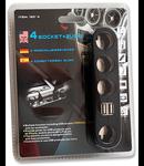 SPLITTER BRICHETA X4 CU USB