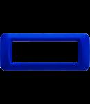 Placa ornament Albastru Jazz 6 module Gewiss System
