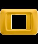 Placa ornament Galben 2 module Gewiss System