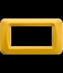 Placa ornament Galben 4 module Gewiss System