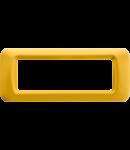Placa ornament Galben 6 module Gewiss System