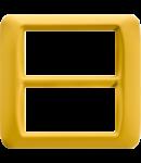 Placa ornament Galben 8 (4+4) module Gewiss System