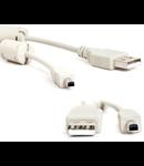CABLU USB AM/BM MINI HP+FILTRU