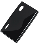 BACK COVER CASE LG L5 NEGRU