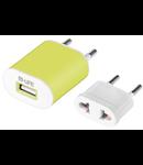 INCARCATOR USB 1A CU ADAPTOR M-LIFE VERDE