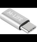 ADAPTOR MICRO USB - USB TIP C M-LIFE