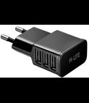 INCARCATOR RETEA 3 X USB 3A MAX (1A+1A+2A) ML