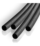 TUB TERMOCONTRACTABIL 2.5MM/1M NEGRU SET 10BU