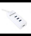 HUB USB 4 PORTURI 3.0 OMEGA
