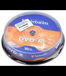DVD-R VERBATIM 4,7GB 16X CAKE 10BUC