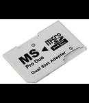 ADAPTOR MICRO SDDUAL SLOT/ MEMORY STICK PRO D
