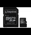 MICROSD CARD 32GB CLASS 4 ADAPTOR KINGSTON