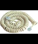 CABLU TELEFONIC SPIRALAT 2.1M ALB