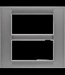 Placa ornament Titan 8 (4+4) module Gewiss Virna
