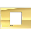 Placa ornament ,2 module, Ice Gold, living light, BTICINO