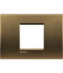 Placa ornament ,2 module, Bronz, living light, BTICINO