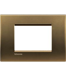 Placa ornament ,3 module, Bronz, living light, BTICINO