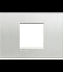 Placa ornament ,2 module, Argintiu , living light, BTICINO