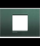 Placa ornament ,2 module, Park, living light, BTICINO