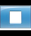 Placa ornament ,2 module, Albastru ,living light, BTICINO