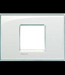 Placa ornament ,2 module, Aquamarine,living light, BTICINO