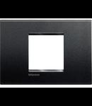 Placa ornament ,2 module,Antracit,living light, BTICINO