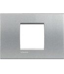 Placa ornament ,2 module,Aluminiu,living light, BTICINO