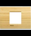 Placa ornament ,2 module,Bambus,living light, BTICINO