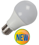 Bec cu LED-uri - 10W E27 A60 radiator aluminiu, lumina alb cald 2700k ,800 lumeni