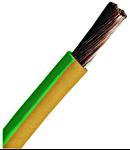 Conductor flexibil cu izolaţie din PVC H07V-K 1,5mm² galben verde