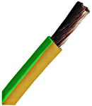 Conductor flexibil cu izolaţie din PVC H07V-K 2,5mm² galben verde