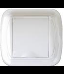 Doza - Priza perete plastic, alb margine rotunjita