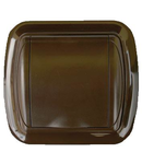 Doza - Priza perete plastic, maro inchis, margine rotunjita
