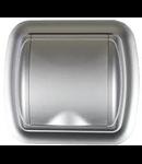 Doza - Priza perete plastic, argintiu , margine rotunjita