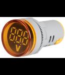 Lampa semnalizare cu Voltmetru digital inclus, Galben 230V