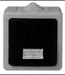 BUTON CU LED PT IP55 GRI PLEXO