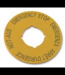 216483 - Eticheta pt oprire de urgenta