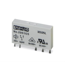 REL-MR- 24DC/21 RELEU MINIATURA CU UN CONTACT PDT MATERIAL CONTACT AgSnO 24VDC 6A